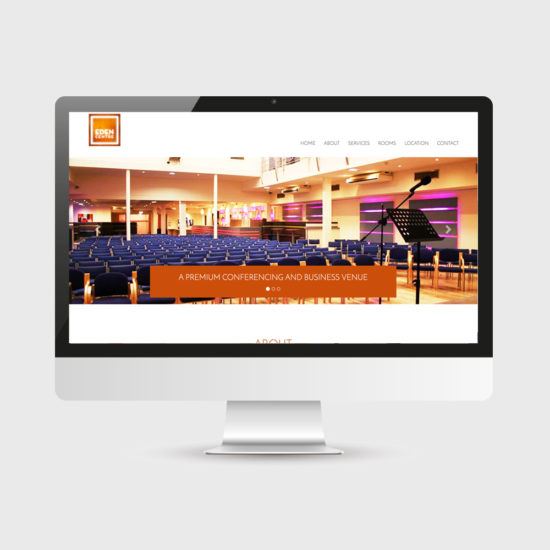 Website design - Eden Centre